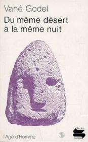 Du Meme Desert A La Meme - Couverture - Format classique