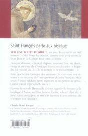 Saint Francois Parle Aux Oiseaux - 4ème de couverture - Format classique