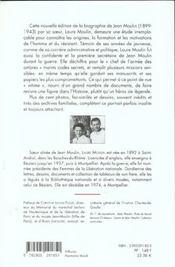 Jean moulin biographie - 4ème de couverture - Format classique