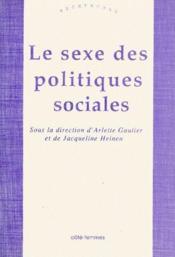 Le sexe des politiques sociales - Couverture - Format classique