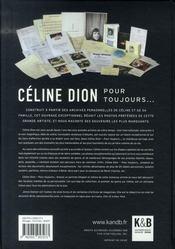 Céline dion pour toujours - 4ème de couverture - Format classique