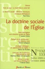 La doctrine sociale de l'Eglise - Couverture - Format classique