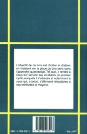 Manuel d'initiation a l'histoire quantitative - 4ème de couverture - Format classique