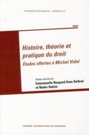 Histoire, théorie et pratique du droit ; études offertes à Michel Vidal - Couverture - Format classique