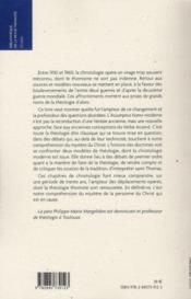 Les christologies de l'assumptus homo et les christologieb du verbe incarné au XXe siècle - 4ème de couverture - Format classique