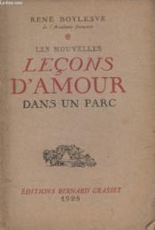 Les Nouvelles Lecons Damour Dans Un Parc. - Couverture - Format classique