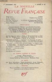 Collection La Nouvelle Nouvelle Revue Francaise N°83. - Couverture - Format classique