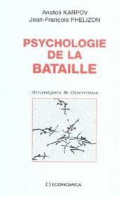 Psychologie De La Bataille ; Strategies Et Doctrines - Intérieur - Format classique