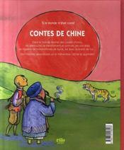 Contes de Chine - 4ème de couverture - Format classique