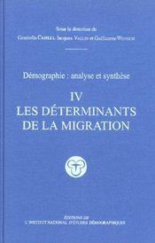 Traite de demographie. les determinants de la migration - Intérieur - Format classique