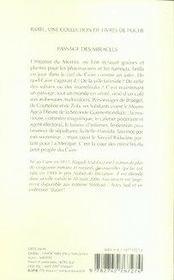 Passage des miracles - 4ème de couverture - Format classique