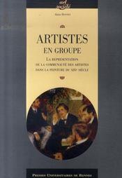 Artistes en groupe ; la représentation de la communauté des artistes dans la peinture du xix siècle - Intérieur - Format classique