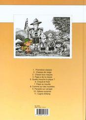 Cédric t.4 ; papa a de la classe - 4ème de couverture - Format classique
