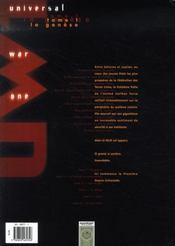 Universal war one t.1 ; la genèse - 4ème de couverture - Format classique
