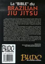 La bible du brazilian jiu-jitsu - 4ème de couverture - Format classique