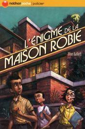 L'énigme de la maison Robie - Couverture - Format classique