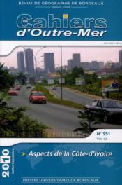 Aspects de la Côte d'Ivoire - Couverture - Format classique