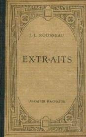 Extraits de j. -j. rousseau-publiés avec une introduction et des notes par l. brunel - Couverture - Format classique