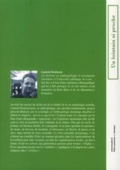Petite ethnographie d'une tradition monastique ; à propos de la foi et de la pratique religieuse - 4ème de couverture - Format classique