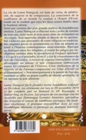 Vie et enseignement d'un moine bouddhiste occidental - 4ème de couverture - Format classique