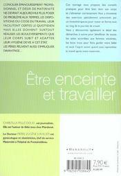Etre Enceinte Et Travailler - 4ème de couverture - Format classique