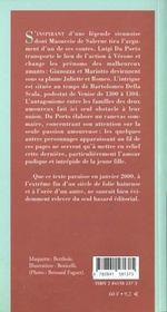 Juliette Et Romeo - 4ème de couverture - Format classique