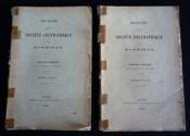 Bulletin de la Société Polymathique du Morbihan (2 volumes, 1910) - Couverture - Format classique