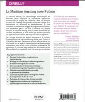Le machine learning avec Python - 4ème de couverture - Format classique