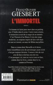 L'immortel - 4ème de couverture - Format classique