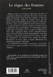 Le siècle des femmes, 1715-1793 - 4ème de couverture - Format classique