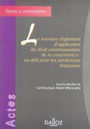 Le nouveau reglement d'application du droit communautaire de la concurrence - Intérieur - Format classique
