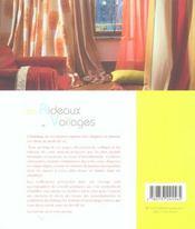 Les rideaux et voilages - 4ème de couverture - Format classique