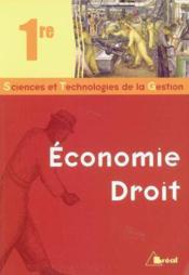 Manuel economie droit 1ere stg - Couverture - Format classique