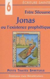Jonas ou l'existence prophétique - Couverture - Format classique