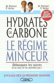 Hydrates De Carbone Le Regime Minceur - Intérieur - Format classique