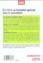 Bien Choisir Sa Formation Agricole Dans Le Secondaire 2006 - 4ème de couverture - Format classique