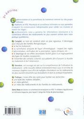 Pharmacie et surveillance infirmiere ; 3e edition - 4ème de couverture - Format classique