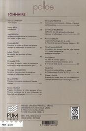 Revue Pallas T.74 ; Economies Et Société En Grèce Classique Et Hellénistique - 4ème de couverture - Format classique