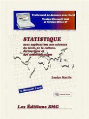Statistique avec applications aux sciences du loisir de la culture du tourisme et des communications - Couverture - Format classique