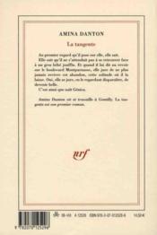 La tangente - 4ème de couverture - Format classique