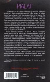 Pialat - 4ème de couverture - Format classique