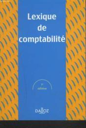 Lexique De Comptabilite ; 5e Edition - Couverture - Format classique