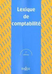 Lexique De Comptabilite ; 5e Edition - Intérieur - Format classique