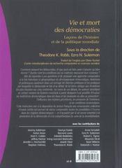 Vie et mort des démocraties ; leçons de l'histoire et de la politique mondiale (1re édition) - 4ème de couverture - Format classique