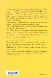 Initiation A L'Analyse Factorielle Des Donnees Fondements Mathematiques Et Interpretations Cours Ex. - 4ème de couverture - Format classique