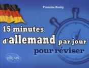 15 minutes d'allemand par jour - Couverture - Format classique