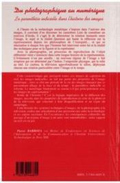 Du Photographique Au Numerique. La Parenthese Indiciel - 4ème de couverture - Format classique