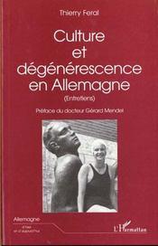 Culture Et Degenerescence En Allemagne - Intérieur - Format classique