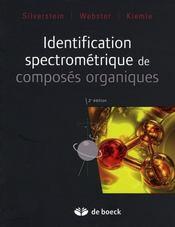 Identification spectrométrique de composés organiques - Intérieur - Format classique
