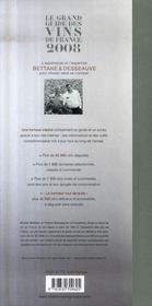 Le grand guide des vins de France (édition 2008) - 4ème de couverture - Format classique